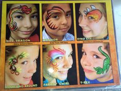 Hershey Park Face Painting Board 12