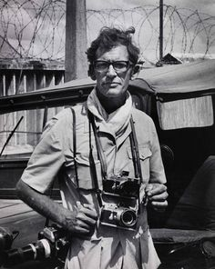 Larry Burrows on assignment in Vietnam in 1971 | Larry Burrows was a famous British photojournalist for his virulent and aggressive coverage of the Vietnam War. Here is one of the last photos of him: he died in 1971 when his helicopter was shot down over Laos.
