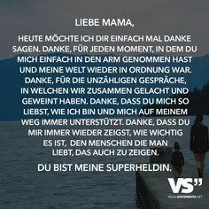 Liebe Mama Manchmal Weiss Ich Gar Nicht Wo Ich Anfangen Soll Du