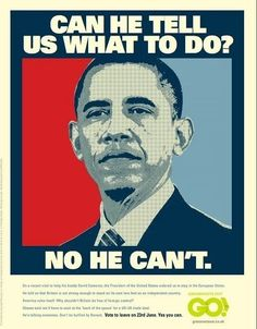 Obama Ridiculed By Brexit Advert