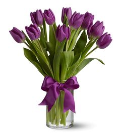 purple tulips wedding centerpieces