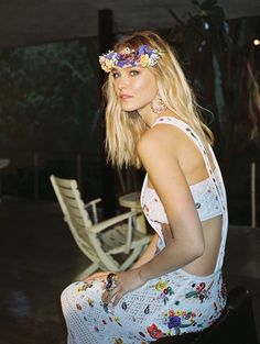 Bar looks gorgeous in floral prints for the magazine