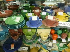 Fiesta Ware collection spotted at Angela's Attic in So. Beloit, Illinois