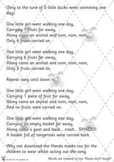 Teacher's Pet - Handa's Surprise Counting Game & Song - Premium Printable Classroom Activities and Games - EYFS, KS1, KS2, Africa, Eileen. Browne, Handa, African, fruits, wild, animals, count