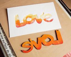 Letterpress with wood veneer by Jocelyn Olson