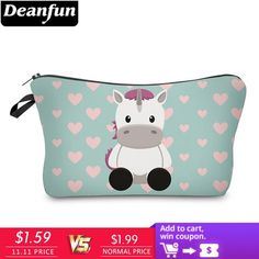 599ca8742f Deanfun Ctue Cow Makeup Bags 3D Printed Heart New Fashion Women Cosmetic  Organizer for Travelling Polyester 50952