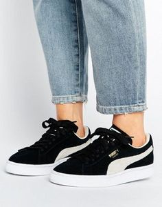 free shipping 4888b 67dac Puma Suede Classic Sneakers In Black Best Sneakers, Online Sneakers, Black  Shoes Sneakers,