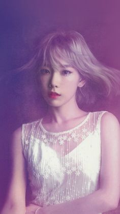 Taeyeon Snsd Kpop Girl Purple Pink #iPhone #6 #plus #wallpaper