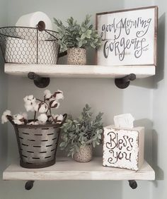 "1,452 Likes, 92 Comments - Chelsea (@blessed_ranch) on Instagram: ""Hey! Hope you all had a great day! Sharing my DIY bathroom shelves for some fun Monday tags! We…"""