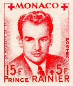 Monaco stamp - Prince Rainier III en Charlotte