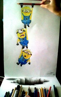 Pencil drawing minion