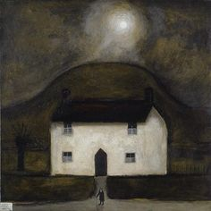 John Caple, Farmhouse Somerset Moors Who Book, Galleries In London, Painted Boards, Naive Art, Glass House, Family Traditions, Nocturne, Somerset, Art Images