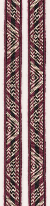 Tablet woven band, based on a Coptic original. Marijke van Epen #EntreUrdimbresyTramas