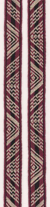 Tablet woven band, based on a Coptic Original. Marijke van Epen