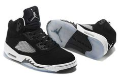 cf0aad0f996 Nike Air Jordan 5 Mens Black White Shoes - $65.00 | adidas and nike shoes  online