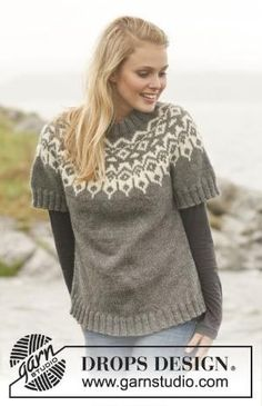 The Arctic Circle sweater - #knit jumper with round yoke and nordic pattern in Nepal by sheree