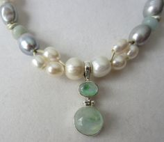 Green Moonstone 925 Sterling Silver by PearlnLeatherJewelry, $35.00