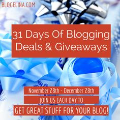 """Gifts and Giving ... and a Giveaway Sweepstake I'm giving away a Blogelina """"Profitable Blogging for Beginners"""" class today on my blog.  Enter before MN on Monday 12/14/15!"""