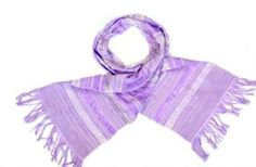 Handwoven cotton scarf lilac