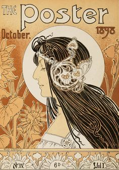Cover illustration by Henri Privat-Livemont for 'The Poster', 1898. Description: The Poster was a monthly magazine published in London from June 1898 to December 1900, dedicated to the then relatively...