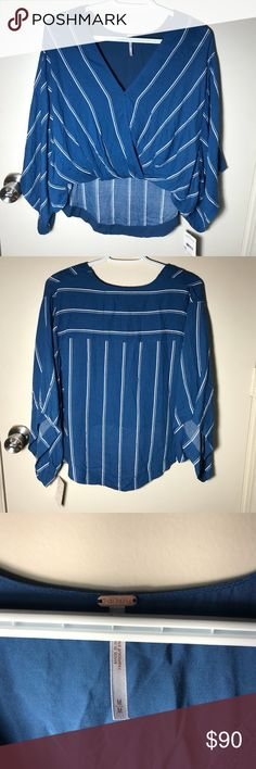 🎄NWT Free People🎄 Beautiful Striped Blouse This top is gorgeous and brand new with tags. Offers welcome🌟 Free People Tops Blouses