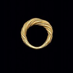As children, striving for perfection is fine but as adults we strive for excellence. An 11th century Viking twisted ring out of very high karat gold and big enough for most modern men to stick two fingers through. About 15 grams, something like $40,000 in Europe and not quite perfect. #historic #recycled #gold #viking #jewelry