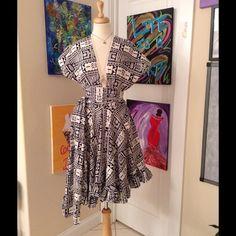 Marian Collier Aztec Print Wrap Dress Handmade Wrap Dress. Aztec Print. Skater Skirt. No Tags. Fits Like A Medium. Marian Collier Dresses