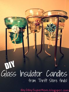 day2day SuperMom: Glass Insulator Candle ~ DIY Friday