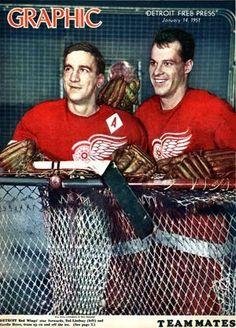 Ted Lindsay & Gordie Howe 1951
