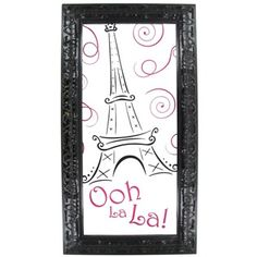 Ooh la la! Glam up your room with Paris wall decor featuring the Eiffel Tower.