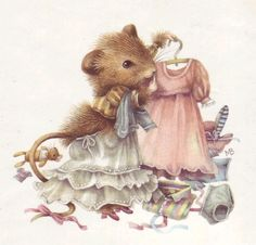 Vera the Mouse by Marjolein Bastin (It's nice to know that even mice have a difficult time choosing an outfit.)