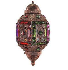 Lámpara estilo marroquí forma alargada #decoracion #interiorismo #lamparas