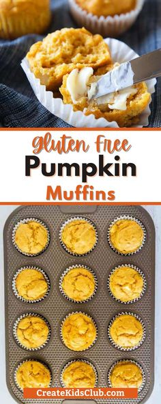If you're looking for a gluten-free pumpkin muffin recipe you're going to love our pumpkin muffins with applesauce! These muffins are super moist and are packed with pumpkin and apples for a lightly sweetened muffin that's delicious any time of the day. Baking Recipes For Kids, Quick Bread Recipes, Easy Bread, Kids Baking, Fresh Pumpkin Recipes, Pumpkin Muffin Recipes, Coffee Recipes, Healthy Breakfast Recipes, Snack Recipes
