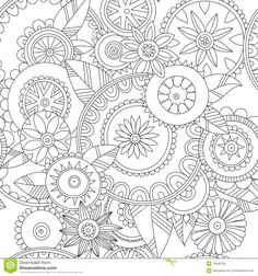 Floral Pattern - Download From Over 29 Million High Quality Stock Photos, Images, Vectors. Sign up for FREE today. Image: 19849783