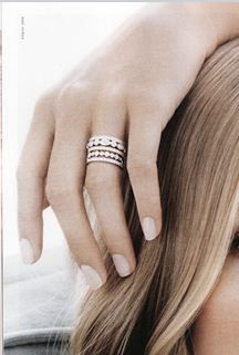 Stackable diamond bands...love the idea of collecting one for every special date in your life.