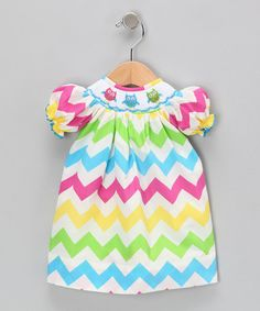 Take a look at this Rainbow Zigzag Doll Outfit by Marjorie's Daughter on #zulily today!