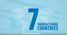 Coral-Mine products are manufactures in seven different countries!