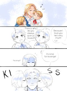 Hetalia - France, little Canada, little America, and England : Part 1 / 2