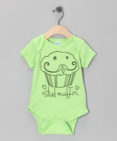 Take a look at this Key Lime 'Stud Muffin' Bodysuit - Infant by Cute as Cupcakes: Apparel & Accessories on #zulily today!