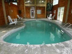 Gatlinburg Chalet Rental: Private Indoor Pool In Gatlinburg   HomeAway 4 br/3 bath