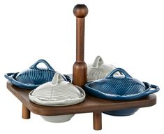 4 Piece Leaf Serving Bowls With Lids Serving Bowls With Lids, Serving Plates, 3 Tier Cake Stand, Fish Platter, Leather Tray, Salt And Pepper Grinders, Condiment Sets, Breakfast Tray