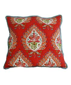 Red Kalani Euro Sham by Nostalgia Home #zulily #zulilyfinds  $22
