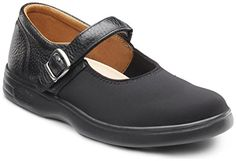 Dr Comfort Womens MERRY JANE Black Lycra Diabetic Extra Depth Velcro Shoe 9XW Black *** Click on the image for additional details. Note:It is Affiliate Link to Amazon.