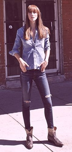 Easy jeans for effortless style from AG Jeans. #Shopbop