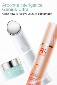 Arbonne Intelligence Genius Ultra. Order now to receive yours in September