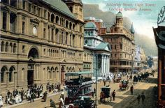 Adderley Street 1911 Old Pictures, Old Photos, Vintage Photos, Table Mountain, Most Beautiful Cities, Environment Design, Antique Maps, Back In Time, Time Capsule
