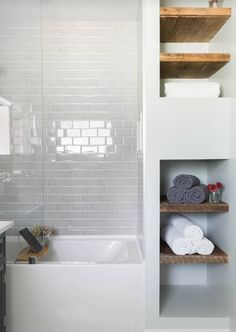 Small Shower for Added Storage