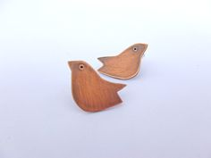 Copper Folklore Bird Stud Earrings by RedHenJewellery on Etsy Bird Earrings, Small Earrings, Copper Anniversary Gifts, Hand Piercing, Copper Sheets, Bird Jewelry, Cute Birds, Small Gifts, Earrings Handmade