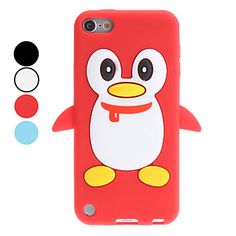 3D Style Cartoon Penguin Pattern Soft Case for iTouch 5 (Assorted Colors) – USD $ 3.99