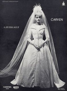 Carven 1961 Wedding Dress, Photo Seeberger, Fashion Photography
